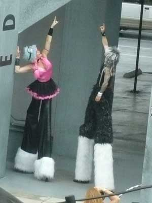 stilt people